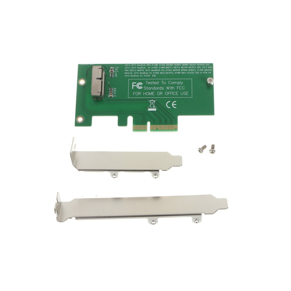 1Pc Adapter Card To PCI-E X4 For 2013 2014 2015 Apple MacBook Air A1465 A1466 SSD WS New