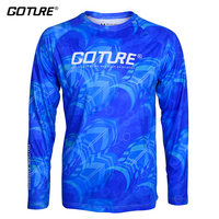 Goture Long Sleeve Fishing Clothes M/L/XL/XXL Quick Dry Anti UV Shirt Breathable Fishing Jacket For Men Outdoor Sports Clothing