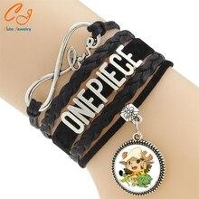 Hot Anime Cartoon Bracelets One Piece Luffy Weave Leather Bracelet & Bangle Cosplay Gifts
