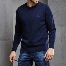 New Men's Sweater AFS jeep Men's solid color sweater 100 % cotton Round neck knitwear pullover men ! M-3XL free shipping