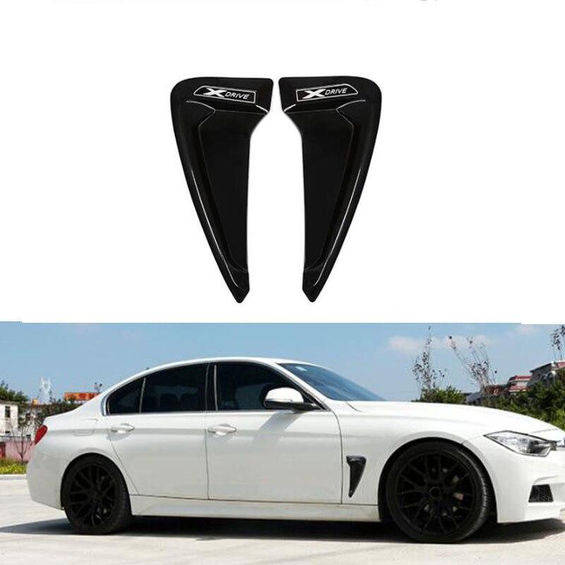 Автомобильный Стайлинг ABS переднее крыло боковое вентиляционное отверстие крышка отделка наклейка для BMW 1/3 /5/7 серия X1X3X4X6 Акулий балдахины