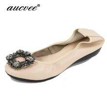 Plus Size 34~43 Designer Crystal Woman Flat Shoes Elegant Comfortable Lady  Fashion Rhinestone Women 570d2eafff43