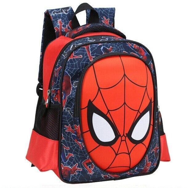 2016 new 3D spiderman face cartoon school bags for boys kids student  backpack 13 inch schoolbags child kindergarten bag mochila