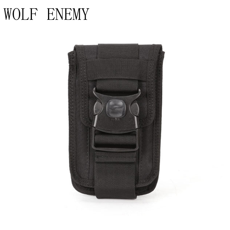 Tactical Military Molle Pouch Waist Bag Belt Nylon Cell Phone Belt Clip Holster Gadget Waist Army Bag Outdoor Gear for Hunting gadget