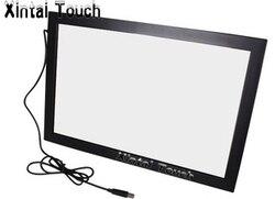 Бесплатная доставка! Xintai Touch 32 дюйма USB ик мульти сенсорный экран наложения; 10 точек инфракрасный мульти сенсорный экран рамка для светодиод...