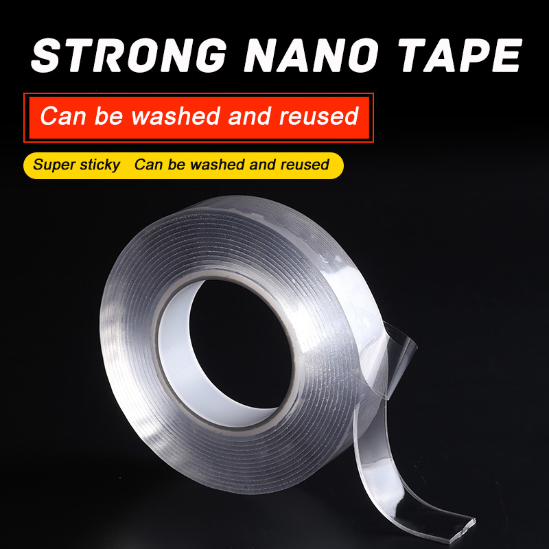 3M Black Technology Free Punching Traceless Double Sided Nano Adhesive Tape Strong Sticky Non Slip Removable Wash Reusable3M Black Technology Free Punching Traceless Double Sided Nano Adhesive Tape Strong Sticky Non Slip Removable Wash Reusable