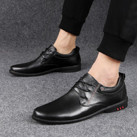 Men Casual genuine Leather shoes business dress Flat Shoes Fashion Sneakers lace up Breathable High Quality Trainers Shoes Men 3