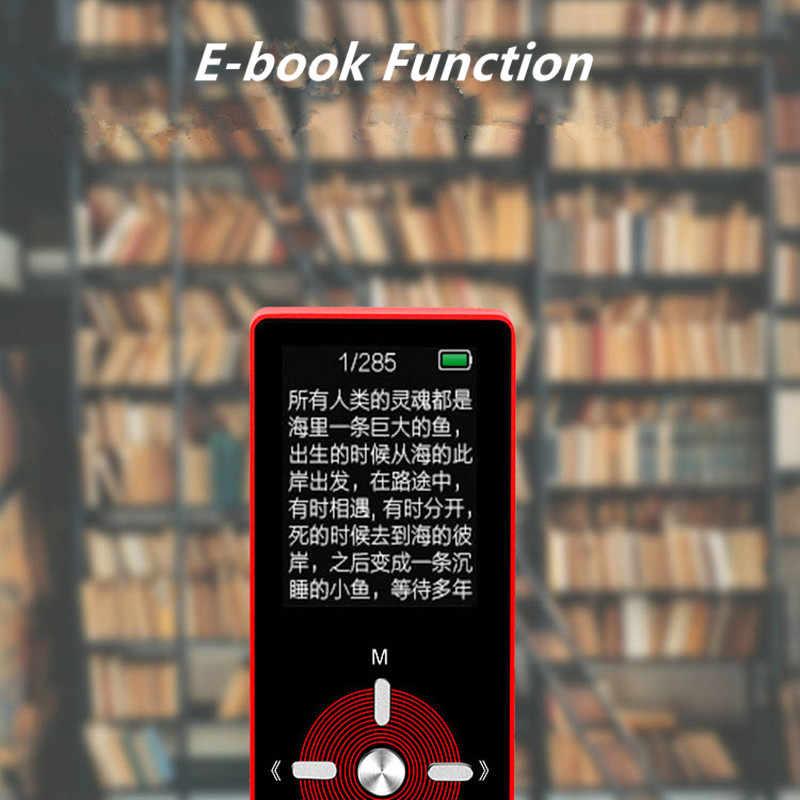 HiFi металлический MP4 плеер встроенный динамик 8 Гб 1,8 дюймов экран MP3 музыкальный плеер Поддержка 128 ГБ sd-карта с видео FM синхронизации выключение