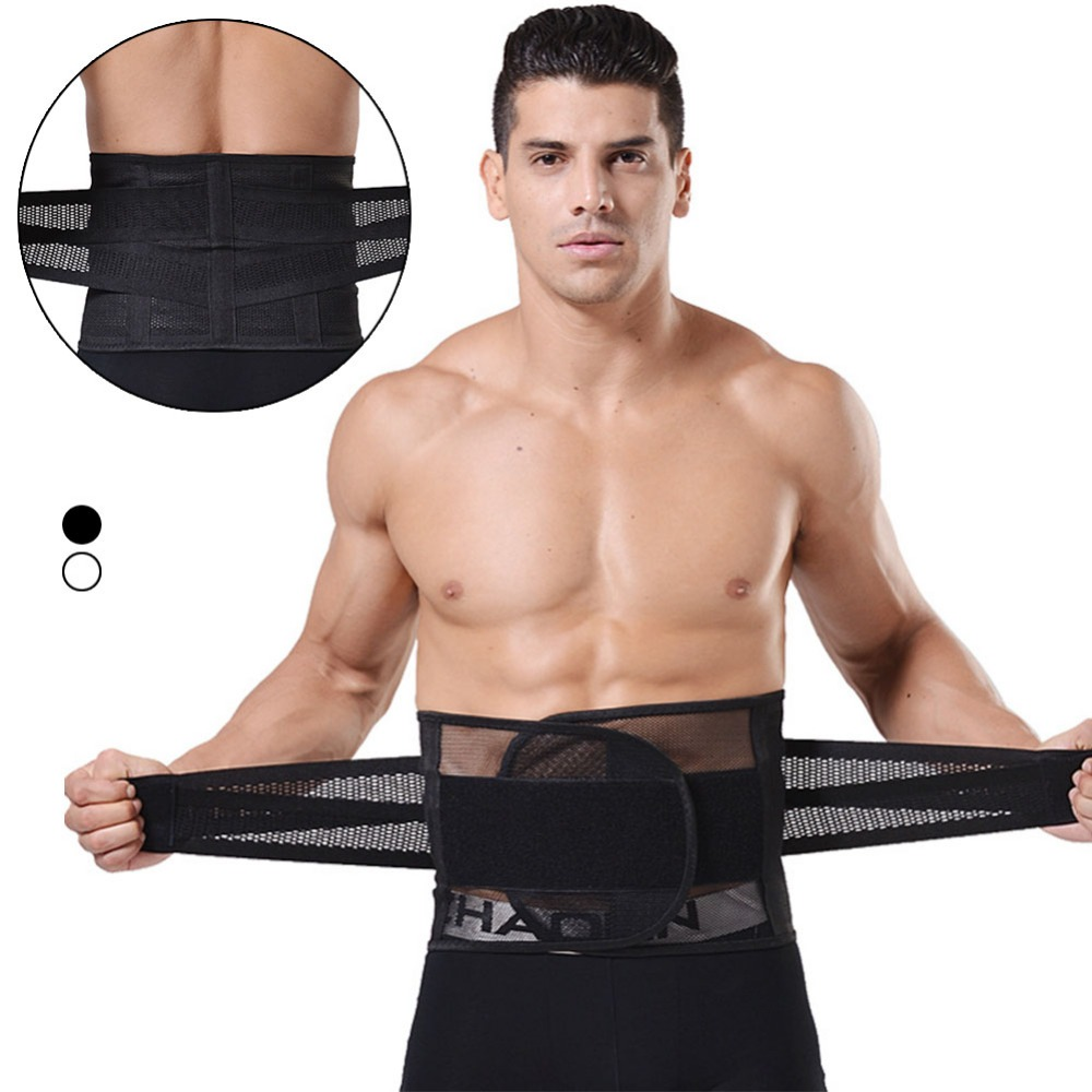 XXXL Mens Waist Slimming Belt Breathable Mesh Cinchers Tummy Belly Control Weight Loss Abdomen Fat Burning R3 elastic thin slimming belt magic waist abdomen massage belt black