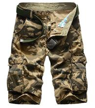 Summer 2016 Outdoor Sport Army military Climbing camping Hiking Men shorts cotton camouflage cargo shorts Multi-pocket loose