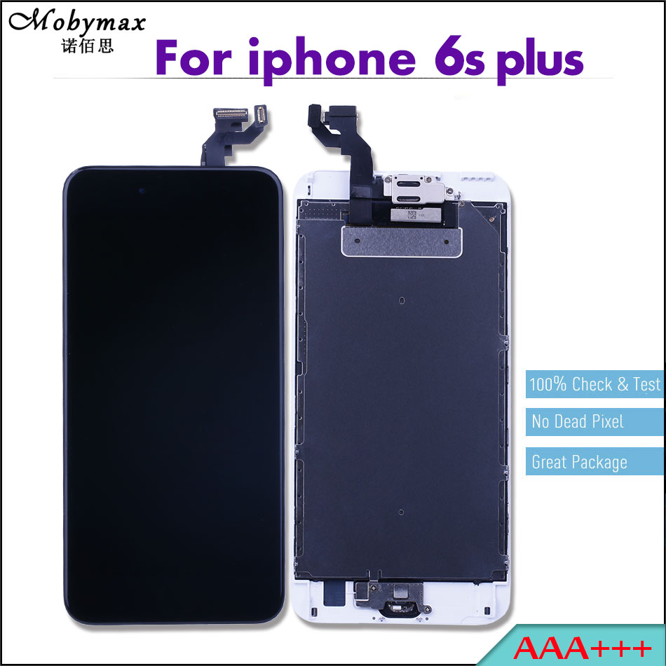 Mobymax 3PCS Ecran For iPhone 6s plus 5.5 Pantalla LCD Full Assembly Touch Screen Digitizer Display+Home Button+Front Camera
