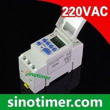 SINOTIMER Marca Microordenador Electrónico Semanal Digital Programable TEMPORIZADOR INTERRUPTOR de Tiempo de Control del Relé 220 V AC 16A Montaje En Carril Din