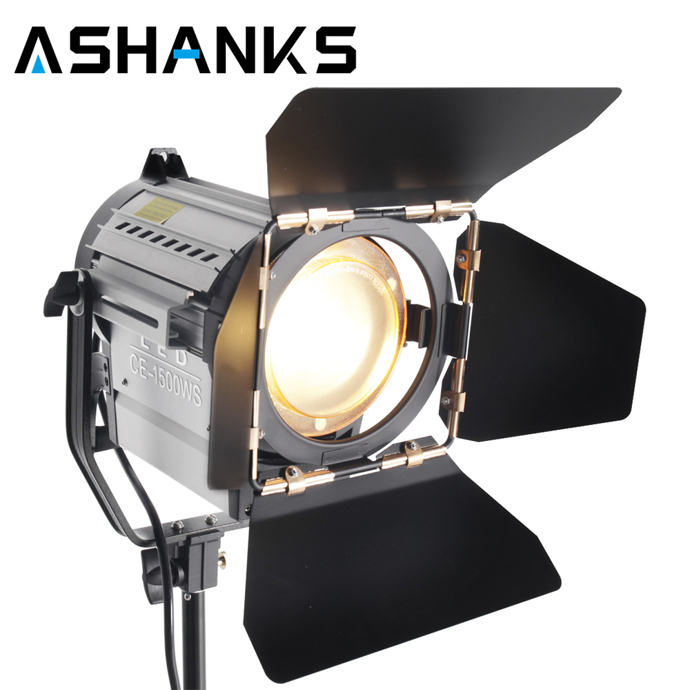 150W LED Studio Fresnel Spotlight with Wireless Remote Control Dimmer 3200 5500K for Photography Camera Photo Youtuber Video
