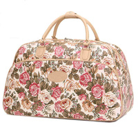 New Arrival Fashion Women Luggage Handbag Large Capacity Floral Print Women Travel Bag Tote Duffle PT797