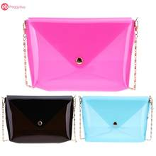 Women Soft Plastic Transparent Chain Bag Small Shoulder Crossbody Bag Women Messenger Bag Mini Designer Handbag Ladies Clutch(China)