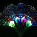 Пластиковые Мигающий СВЕТОДИОД Красочные Руку Вентилятор Ночные Светящиеся Свет Мигает Вентилятор, Свет-up Kids Игрушки Украшение Партии