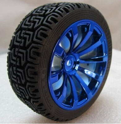 68mm Rubber Tires Robots Smart Car Wheels Combine With 1 10 Couplings Using High Quality