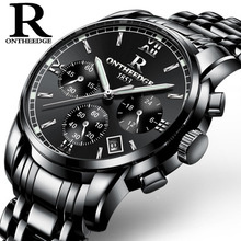 цена Watches Men 2018 Top Brand Luxury Stainless Steel Sports Watches Men's Analog Quartz Watch Male Clock Black Strap Wrist Watch онлайн в 2017 году