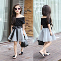 New Fashion Summer Style Children girls clothing sets,1pcs Vest+1pcs skirt,For 3-12 yrs old