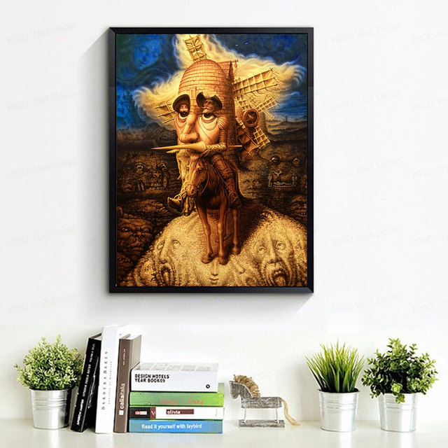 Abstract Decoration Pictures Canvas Painting Don Quixote Oil Paintings 2