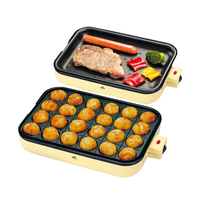 24 Holes Octopus Ball Machine Household Octopus Barbecue Pancake Maker Commercial Octopus Cherry Ball Meatball Breakfast Machine