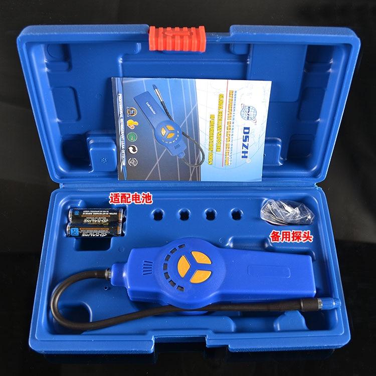 где купить Halogen gas detector alarm Freon CFC HFC HCFC Refrigerant Gas Leak Detector Halogen gas monitor gas analyzer R134A hvac DSA-200 по лучшей цене