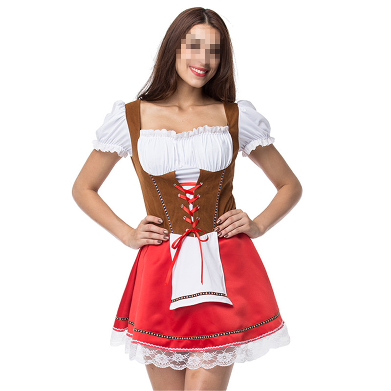Factory sale beautiful sexy oktoberfest beer wench cosplay costumes for women