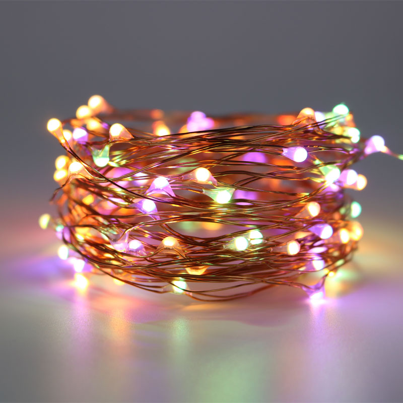 Warm white&Multicolor Combination LED Fairy Lights 8Mode USB Copper Wire Holiday Lights for Kids Bedroom Home Wedding Decoration