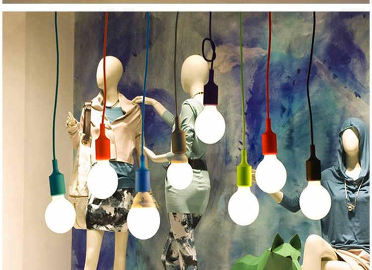 Креативная Радужная небольшая люстра, цветная простая люстра с одной лампой, оконные украшения для гардероба простая люстра, лампы