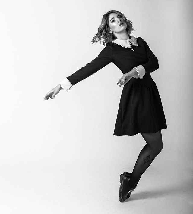 Rosetic robe gothique noir femmes automne a-ligne col claudine taille mince rue mode rétro Preppy Goth robes hiver