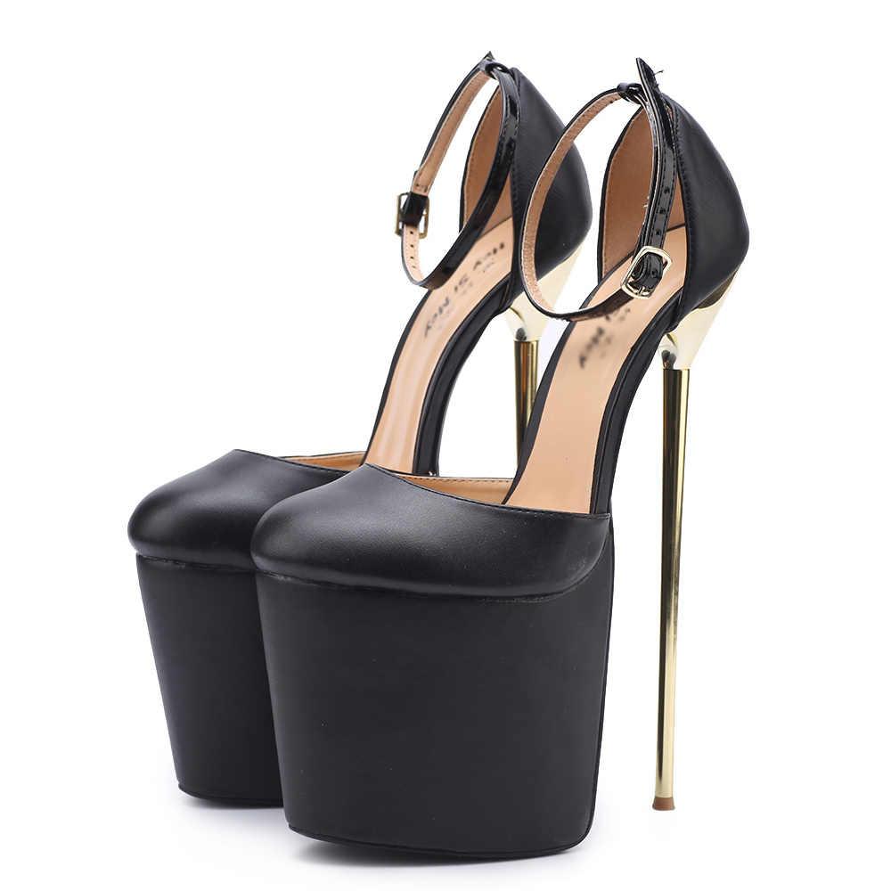 4337439f3aa ... TIMETANG Sexy Super High 22cm Metal Thin Heel 9.5cm Platform Woman  Sandals Drag Queen  ...