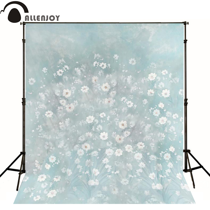 Allenjoy photography backdrops Pale blue flowers blur photo background newborn baby photocall lovely thin vinyl