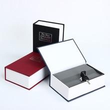 Secret Dictionary Book Cash Money Jewelry Storage Security Box Safe + 2 Lock Key цена 2017
