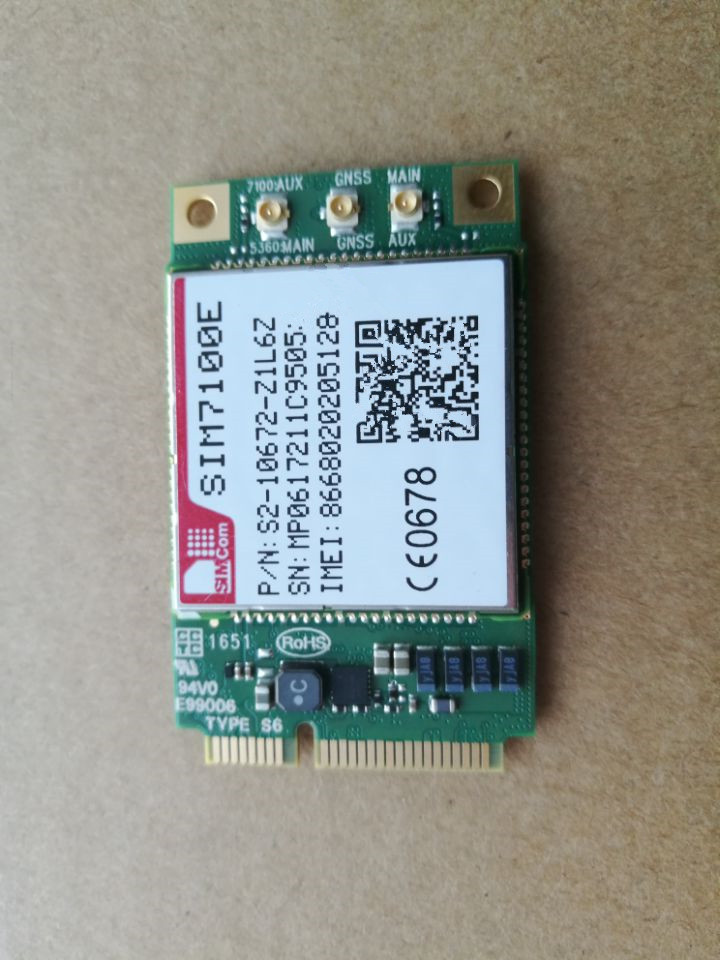 SIM7100E Minipcie LTE 4G Module, SIMcom Wireless Communication Module, Brand New Original original module 3rk1400 1dq00 0aa3