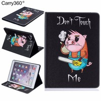 For Apple IPad Air 2 Case PU Leather Pretty Flip Folio Cute Cartoon Wallet Card Slots
