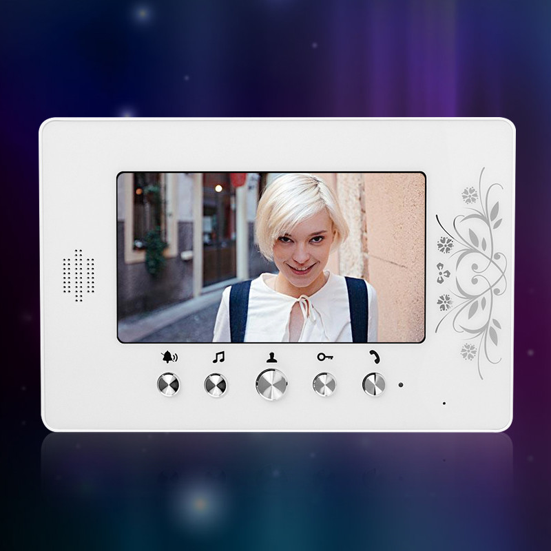 New 7 inch TFT-LCD Color Video Intercom Door Phone Indoor Monitor Screen Without IR COMS Camera Doorbell For Apartment/Home Use wired video door phone intercom doorbell system 7 tft lcd monitor screen with ir coms outdoor camera video door bell