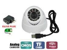 CCTV USB DVR Recorder Night Vision Mini Dome Camera Motion Detection DVR Loop Recorder Security Camera USB Support 32GB TF Card