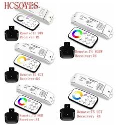 Przed naszą erą T1/T2/T3/T4/T5 + R4 RF bezprzewodowy pilot zdalnego ściemniania/CCT/RGB /RGBW/CW CCT odbiornik led sterownik do taśmy LED światła  DC12V 24V w Kontrolery RGB od Lampy i oświetlenie na