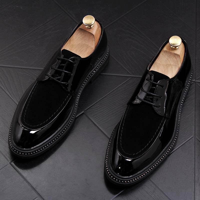 À Arrivée De Mens Nouvelle Concepteur Errfc Bureau Avec Pu Cuir Mariage Mode Lacets Loisirs Luxe Chaussures Daim Noir En Homme QdhsrxtCB