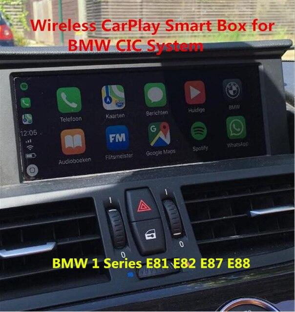 2019 Gratis Verzending Aftermarket OEM Draadloze CarPlay Doos voor BMW 1 Serie E81 E82 E87 E88 CIC Ondersteuning Achteruitrijcamera camera