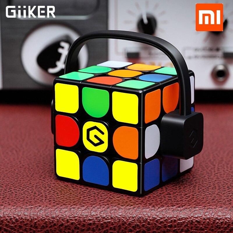 Xiaomi Giiker Кубик Рубика i3s супер куб обнов смарт-Магия Магнитная Bluetooth APP синхронизации Puzzle игрушки подарок брелок Стикеры
