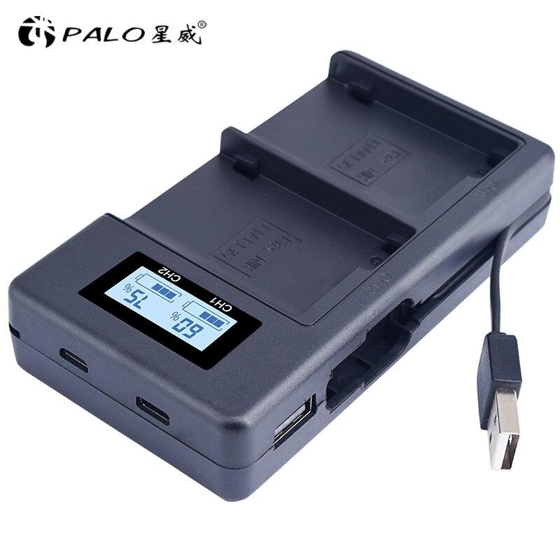 PALO EN-EL15 ENEL15 EL15 cargador de batería LCD USB cargador Dual para Nikon D500... D600... D610... D750... d7000... D7100... D7200... D800... D800E... D810