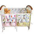 Promotion Muslin tree Baby Cot Bed Hanging Storage Bag 100%Cotton Crib Organizer 60*55cm Toy Diaper Pocket for Crib Bedding Sets