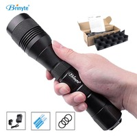 Brinyte DIV01 LED Dive Flashlight Portable Diving Torch CREE XM L2(U4) Underwater 200m 26650 18650 Night Diving Torch