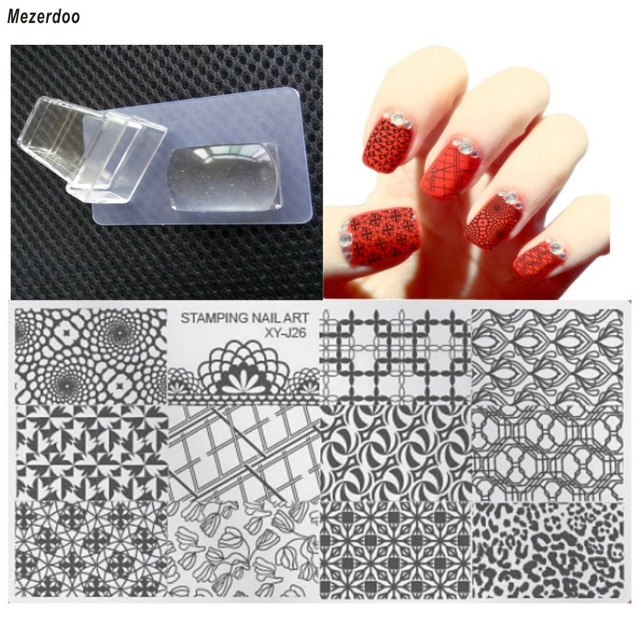 Mezerdoo 1 Jelly Stamp Stamper+1 Scraper+1 Image Plate Nail Art ...