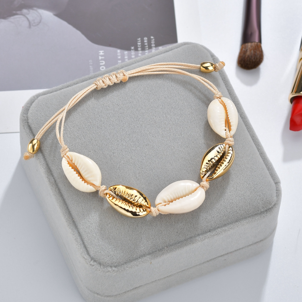 Bohemian Natural 1pc Hot Sale Fashion Wholesale Sea Shell Bracelet In Adjustable Bracelets For Women Girls Accessories