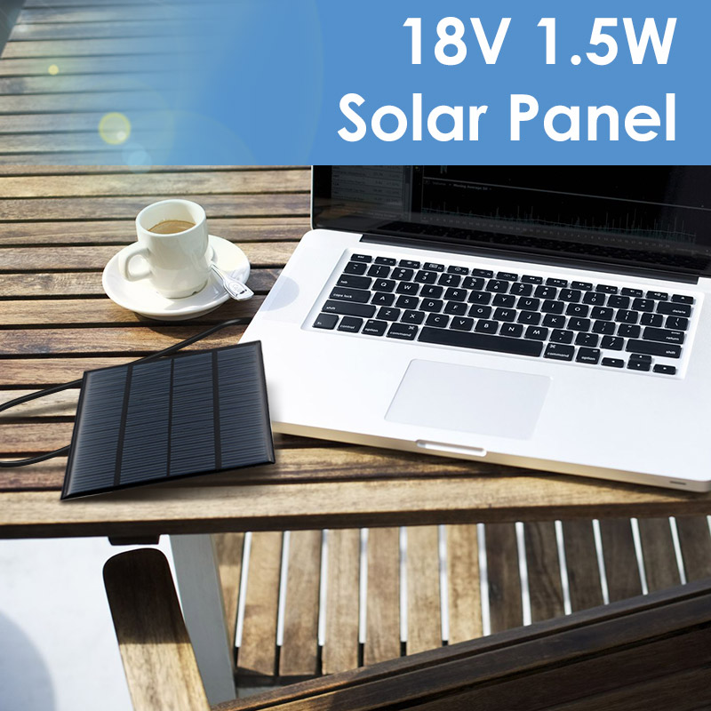 Overfly 18V 1.5W Solar Panel Portable Mini Sunpower DIY Module Panel System For Solar Lamp Battery Toys Phone Charger Solar Cell