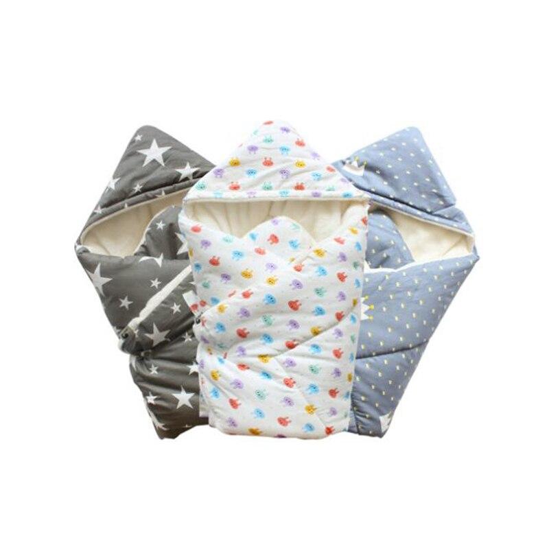 Bébé Swaddle 90*90 cm couverture de bébé épais chaud berbère enveloppes polaires pour les nouveau-nés écharpe pour bébé bébé literie dormir