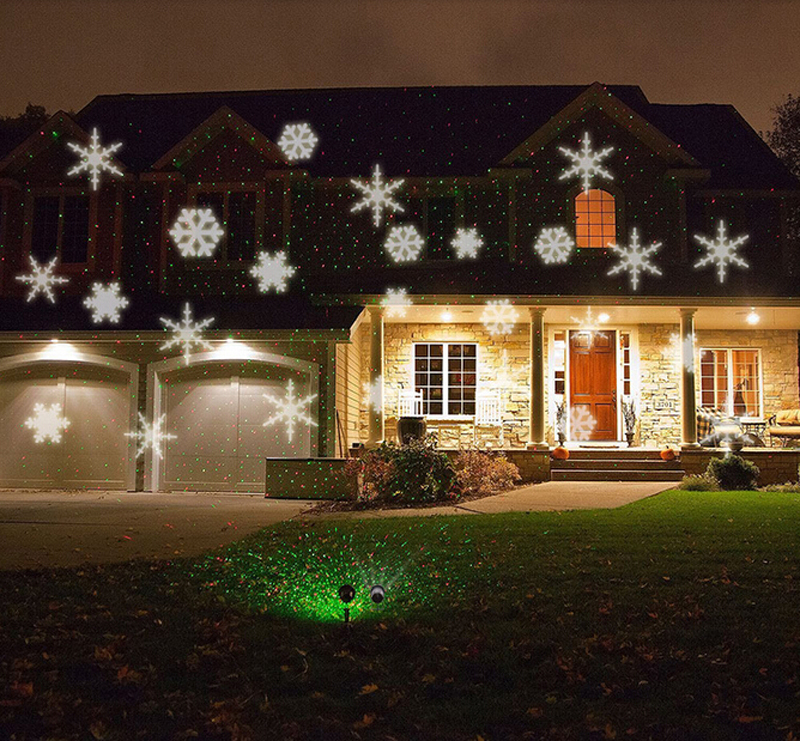 Aliexpress.com : Buy Christmas White Snowflake Landscape Projector ...