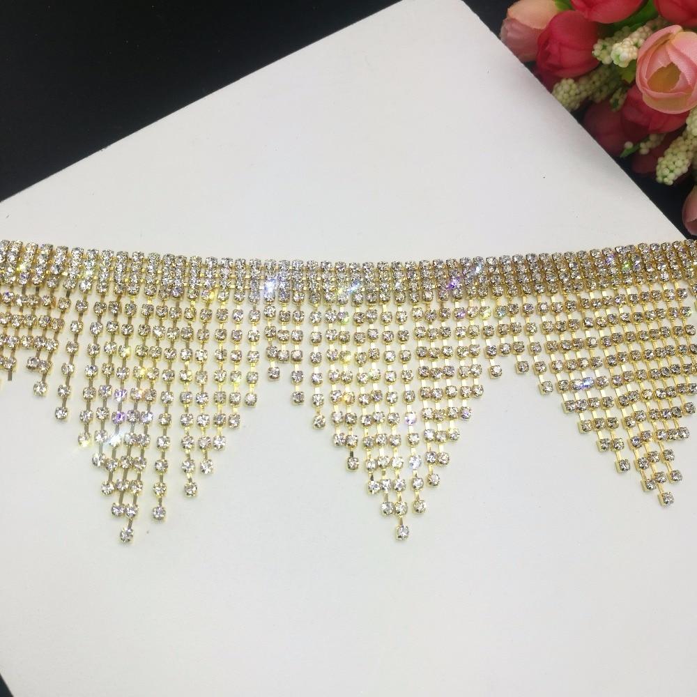 bb4b51c8b2 Beads Tassel Lace Trim Bohemian Style Mirror Ribbon Pompom Trim ...